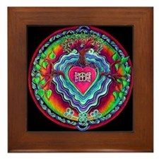 Heart Opening Mandala ~ Framed Tile