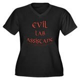 Evil Lab Assistant Women's Plus Size V-Neck Dark T