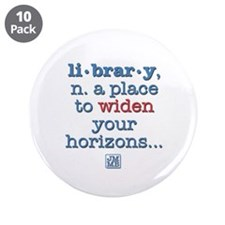 """Library 3.5"""" Button (10 pack)"""
