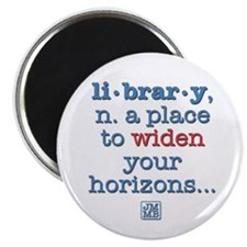 "Library 2.25"" Magnet (10 pack)"