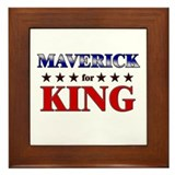 MAVERICK for king Framed Tile