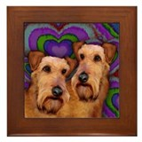 IRISH TERRIER DOGS VALENTINE LOVE Framed Tile