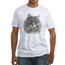 TG, Long-Haired Gray Cat Shirt