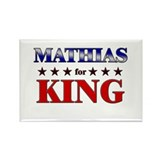 MATHIAS for king Rectangle Magnet (10 pack)