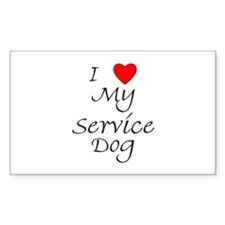 I Love My Service Dog Decal