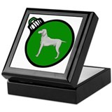 Green Weimaraner Christmas Keepsake Box
