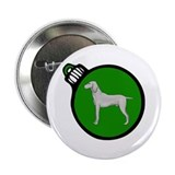 "Green Weimaraner Christmas 2.25"" Button"