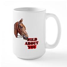 Horse with Braided Mane Valentine Mug