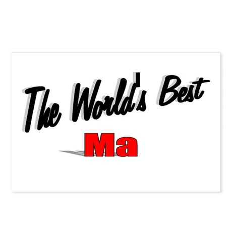 """The World's Best Ma"" Postcards (Package of 8)"