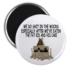 "Bears shit in the woods 2.25"" Magnet (10 pack)"