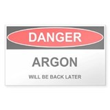 Argon Warning sticker