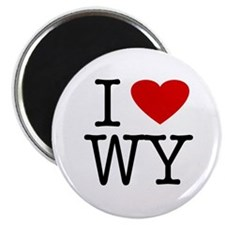 I Love Wyoming (WY) Magnet