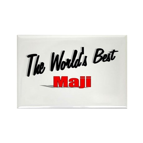 """The World's Best Maji"" Rectangle Magnet"