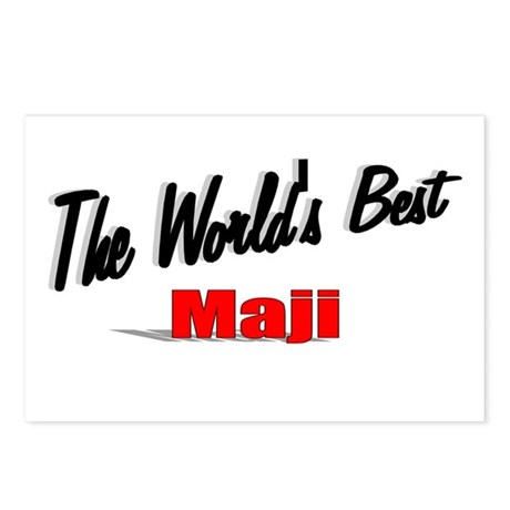 """The World's Best Maji"" Postcards (Package of 8)"