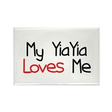 My YiaYia Loves Me Rectangle Magnet