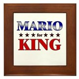 MARIO for king Framed Tile