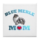 Blue Merle Sheltie Tile Coaster