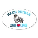 Blue Merle Sheltie Oval Decal