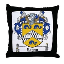 Regan Family Crest Throw Pillow