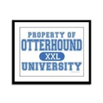 Otterhound University Framed Panel Print