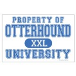 Otterhound University Large Poster