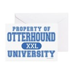 Otterhound University Greeting Cards (Pk of 20)
