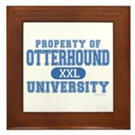 Otterhound University Framed Tile