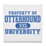 Otterhound University Tile Coaster