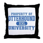 Otterhound University Throw Pillow