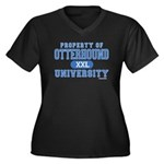 Otterhound University Women's Plus Size V-Neck Dar