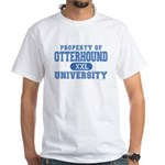 Otterhound University White T-Shirt