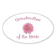 Daisy Bride's Grandmother Oval Decal