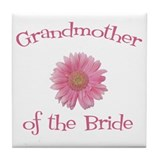Daisy Bride's Grandmother Tile Coaster