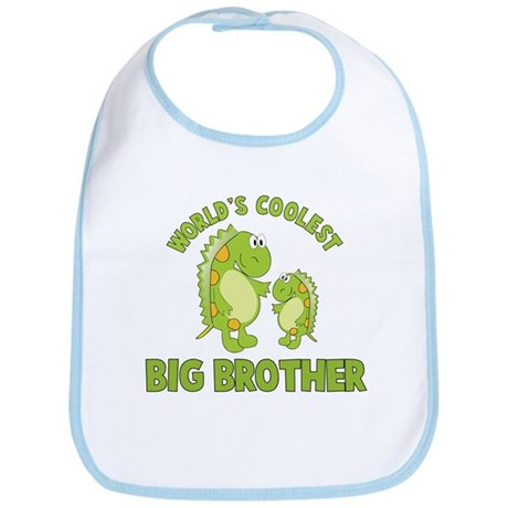 world's coolest big brother dinosaur Bib