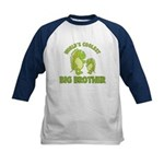 world's coolest big brother dinosaur Kids Baseball