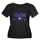Marine Bride Women's Plus Size Scoop Neck Dark T-S