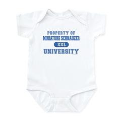 Miniature Schnauzer U. Infant Bodysuit
