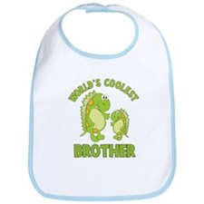 world's coolest brother dino Bib