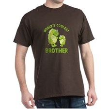 ADULT SIZE world's coolest brother dino T-Shirt