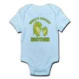 world's coolest brother dino Infant Bodysuit