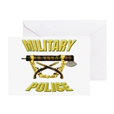 Military Police Fasces w/ Pis Greeting Card