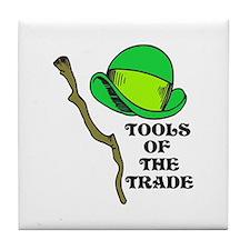 Leprechaun Tools of the Trade Tile Coaster