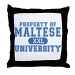 Maltese University Throw Pillow