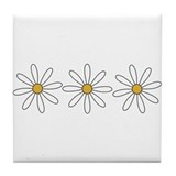 Cool Daisy Tile Coaster