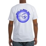 Hang Gliding Ridge Ride Blue Fitted T-Shirt