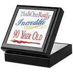 Incredible At 90 Keepsake Box