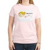 "Ms Nana: ""I Love Banana"" monkey Pink T-Shirt"