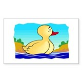 LITTLE YELLOW DUCKIE Rectangle Decal