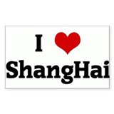 I Love ShangHai Rectangle Decal