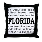 FLORIDA ELECTIONS Throw Pillow